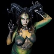 shelley lafleur Reptilia bodypaint