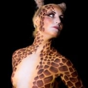 shelley lafleur giraffe bodypaint devon