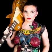 shelley lafleur guns n' roses bodypaint